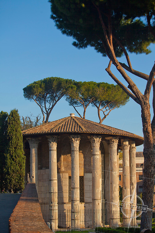 The Temple of Hercules, situated in the Forum Boarium on the eastern bank of the Tiber, is one of the oldest extant buildings in Rome.