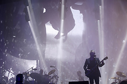 Thom Yorke of Radiohead performs on The Pyramid Stage at the Glastonbury Festival, at Worthy Farm in Somerset.