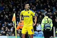 Goal - Kwesi Appiah (9) of AFC Wimbledon celebrates scoring a goal to make the score 1-1 during the EFL Sky Bet League 1 match between Portsmouth and AFC Wimbledon at Fratton Park, Portsmouth, England on 1 January 2019.