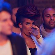 NLD/Amsterdam/20130418- Uitreiking 3FM Awards 2013, Eva Simons en partner Sidney Samson