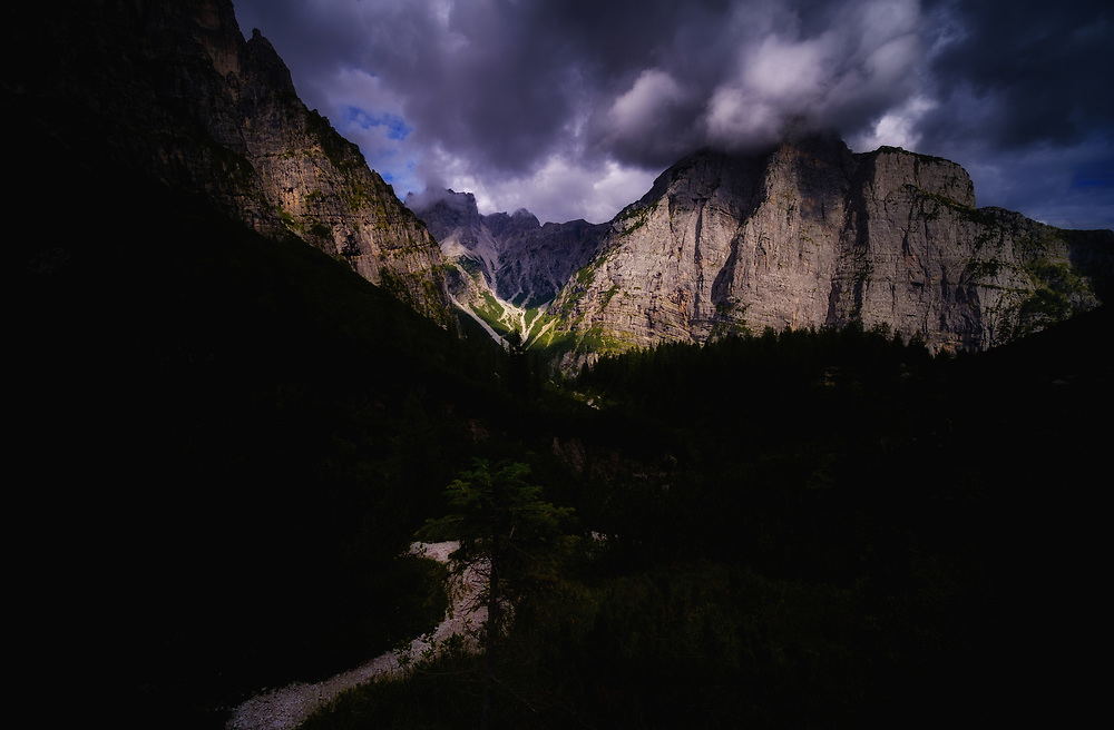 Valley View, Val Perse, Dolomites, Italy