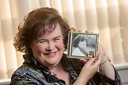 Susan Boyle at home in Blackburn, for an photocall in relation to the launch of her new album, Hope.