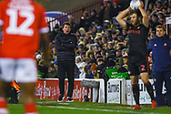 Daniel Stendel  of Barnsley (Manager) watches on during the EFL Sky Bet League 1 match between Barnsley and Sunderland at Oakwell, Barnsley, England on 12 March 2019.