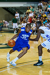 23 June 2012: Austin Stewart and Akeem Springs..  Illinois Basketball Coaches Association (IBCA) All Star game at Shirk Center, Illinois Wesleyan, Bloomington, IL