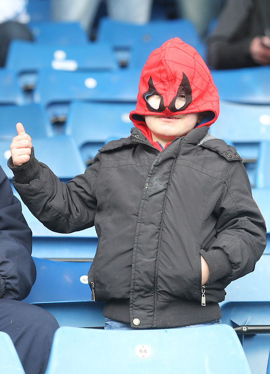 Preston North End's Fan<br /> <br /> Photographer Mick Walker/CameraSport<br /> <br /> Football - The Football League Sky Bet League One - Oldham Athletic v Preston North End - Saturday 28th February 2015 - SportsDirect.com Park - Oldham<br /> <br /> © CameraSport - 43 Linden Ave. Countesthorpe. Leicester. England. LE8 5PG - Tel: +44 (0) 116 277 4147 - admin@camerasport.com - www.camerasport.com