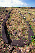 Mare Paenga, Boat shaeped house, Easter Island (Rapa Nui), Chile, South Pacific<br />