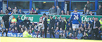 RED CARD, SENDING OFF - Burnley's Ashley Barnes heads for the dressing room after receiving a red card from Referee Mike Jones for a tackle on Everton's Seamus Coleman resulting in a second yellow card<br /> <br /> Photographer Stephen White/CameraSport<br /> <br /> Football - Barclays Premiership - Everton v Burnley - Saturday 18th April 2015 - Goodison Park - Everton<br /> <br /> © CameraSport - 43 Linden Ave. Countesthorpe. Leicester. England. LE8 5PG - Tel: +44 (0) 116 277 4147 - admin@camerasport.com - www.camerasport.com
