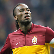 Galatasaray's Tebily Didier Yves Drogba during their UEFA Champions League Quarter-finals, Second leg match Galatasaray between Real Madrid at the TT Arena AliSamiYen Spor Kompleksi in Istanbul, Turkey on Tuesday 09 April 2013. Photo by Aykut AKICI/TURKPIX