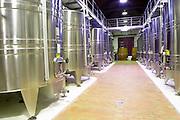 stainless steel tanks chateau la garde pessac leognan graves bordeaux france