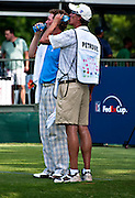 Tim Petrovic and caddy at St. Jude Classic in Memphis.