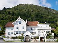 The traditional style Utne Hotel in Utne on  Hardanger Fjord, Vestlandet, Norway, Europe