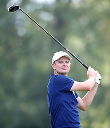 Team Europe's Justin Rose tees off the 14th during the Fourballs match on day one of the Ryder Cup at Le Golf National, Saint-Quentin-en-Yvelines, Paris. PRESS ASSOCIATION Photo. Picture date: Friday September 28, 2018. See PA story GOLF Ryder. Photo credit should read: Adam Davy/PA Wire. RESTRICTIONS: Use subject to restrictions. Written editorial use only. No commercial use.