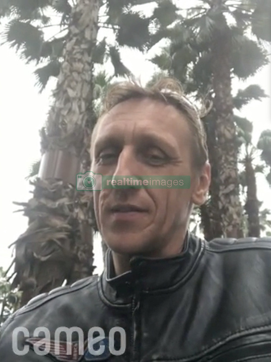 The Night King from Game Of Thrones was dramatically killed off at the hands of Arya Stark on Sunday's epic episode. But the man behind the prosthetic mask — Slovakia born stuntman Vladimir Furdik — is now showing his softer side, by doing paid-for birthday shoutouts and personalized videos for fans on a new celebrity app called Cameo. For $100, die-hard fans can get Furdik, 48, to record them a personal video message, mentioning their name or even wishing them happy birthday. As this collection of videos show, the Night King certainly has his endearing, friendly side when not clad in scary prosthetics and with those piercing icy-blue eyes. Furdik reprised the role of Night King in Game Of Thrones in season six, through to the current and last eighth season; the role was previously portrayed by British-American character actor Richard Brake in the fourth and fifth seasons. Furdik also has a slew of other blockbuster credits under his belt, having done stunt work on the likes of Snow White And The Huntsman, Skyfall, Spartacus and Thor. He joined the Cameo app in February of this year, initially charged $55 per video, but almost doubled his fee to $100 on April 12, just two days before the hotly anticipated Game Of Thrones season finale premiere episode. Cameo is a Chicago-based app which launched in 2016 and now has more than 3,500 celebs — from musicians and actors to reality stars — on its books. Celebrities set their own price for making a video, and take the lion's share of the fee with a 75 per cent cut, the remainder going to Cameo. Customers then have the completed video sent to them directly to keep. TEASE: For $100, die-hard fans can get Furdik, 48, to record them a personal video message, mentioning their name or even wishing them happy birthday. 02 May 2019 Pictured: Game Of Thrones Night King actor Vladimir Furdik appears in a series of videos on Cameo, a celebrity app where stars do personal shout outs to die-hard fans. Photo credit: Cameo/ M