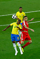 Fernandinho (Brazil) and Nemanja Matic (Serbia) <br /> Moscow 27-06-2018 Football FIFA World Cup Russia  2018 <br /> Serbia - Brazil / Serbia - Brasile<br /> Foto Matteo Ciambelli/Insidefoto