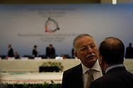 Delegates from around the world attend the Second Conference of the Group of Friends of the Syrian People, held in Istanbul on April 1st 2012. The aim of the conference was to discuss further sanctions on the Syrian regime, and how to support the resistance. Bradley Secker / ENN