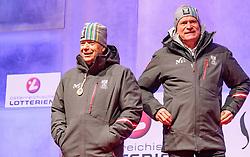 27.02.2018, Salzburg, AUT, PyeongChang 2018, ÖOC Medaillenfeier, im Bild v.l.: ÖSV Präsident Peter Schröcksnadel, ÖOC- Generalsekretär Peter Mennel // during a ÖOC medal celebration Party after the Olympic Winter Games Pyeongchang 2018 in Salzburg, Austria on 2018/02/27. EXPA Pictures © 2018, PhotoCredit: EXPA/ JFK