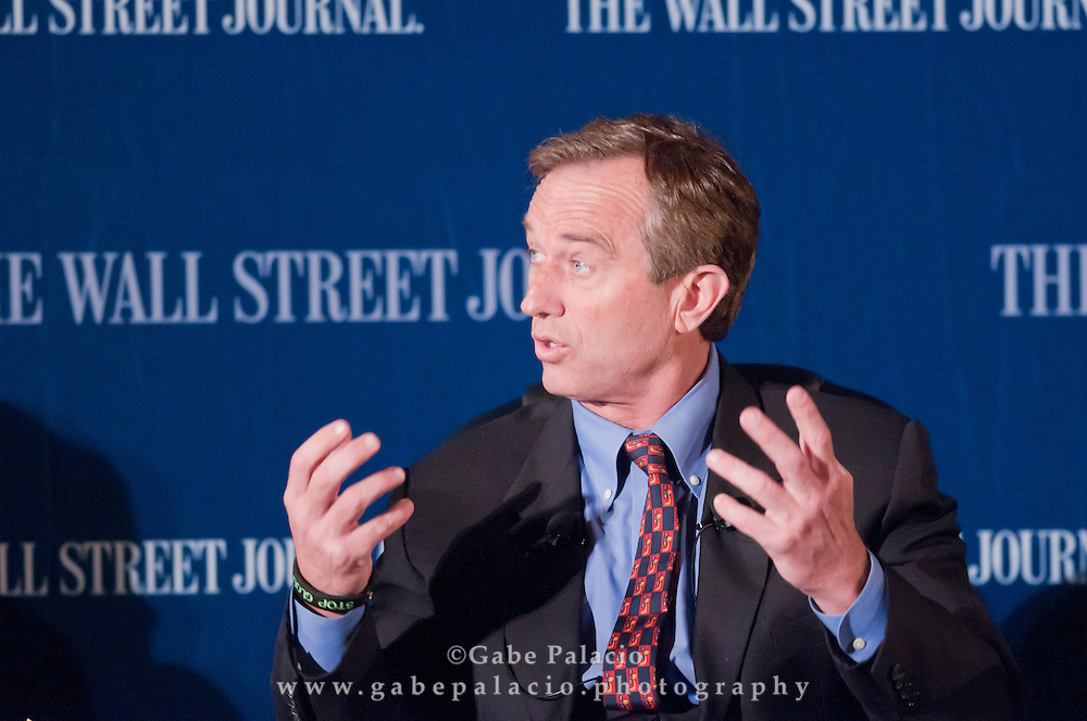 Robert Kennedy, Jr, President, Waterkeeper Alliance and chief prosecuting attorney of Hudson Riverkeeper, speaks during The WSJ Future of New York series on Philanthropy in New York fin New York City on April 8, 2011.  (photo by Gabe Palacio)