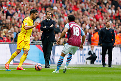 Aston Villa Manager Tim Sherwood looks on - Photo mandatory by-line: Rogan Thomson/JMP - 07966 386802 - 19/04/2015 - SPORT - FOOTBALL - London, England - Wembley Stadium - Aston Villa v Liverpool - FA Cup Semi Final.