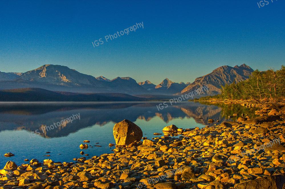 Sunrise at St.Mary Lake Glacier National Park, Montana.