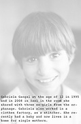 Gabriela Gangal at the orphanage of Popricani when she was 9 in 1994
