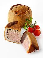 Melton Mowbray pork pie stock photos