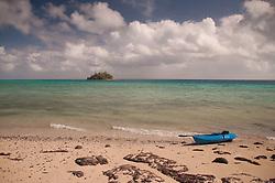 Devil's Beach with Kayak and Paddy's Island, Turtle Island, Yasawa Islands, Fiji