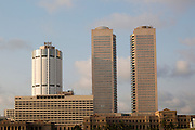 Twin towers of World Trade Centre and modern hotels, central business district, Colombo, Sri Lanka