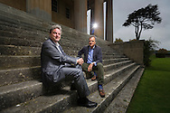 Mark Baring (right), son of Lord Ashburton and Michael Chance, Artistic Director of The Grange Festival pictured at Grange Park in Hampshire. The Grange Festival will have its inaugural season in June, 2017 after parting with its previous tenants, Grange Park Opera, who enjoyed 16 years at the award winning theatre. <br /> Picture date: Thursday October 20, 2016.<br /> Photograph by Christopher Ison ©<br /> 07544044177<br /> chris@christopherison.com<br /> www.christopherison.com