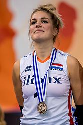 01-10-2017 AZE: Final CEV European Volleyball Nederland - Servie, Baku<br /> Nederland verliest opnieuw de finale op een EK. Servië was met 3-1 te sterk / Kirsten Knip #1 of Netherlands