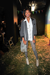 TOLULA ADEYEMI at a party to celebrate the global launch of the Iconic Brazilian lifestyle brand Havaianas Wellies range held at Selfridges, Oxford Street, London on 14th April 2011.
