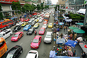 Heavy traffic in Bangkok, Thailand