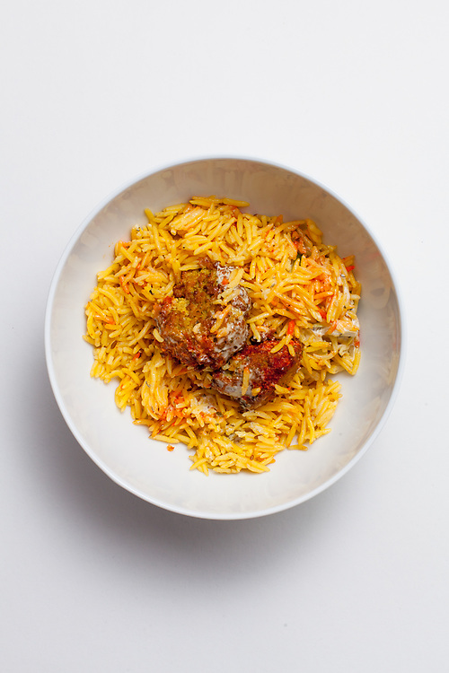 Leftover Falafel over Rice from the fridge (m€) - COVID-19 Social Distancing