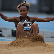Jessie Gaines, USA, in action during the Women's long Jump competiton during the Diamond League Adidas Grand Prix at Icahn Stadium, Randall's Island, Manhattan, New York, USA. 13th June 2015. Photo Tim Clayton