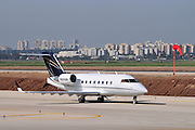 Israel, Ben-Gurion international Airport Private Jet ready for takeoff
