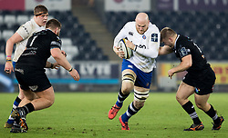 Bath Rugby's Matt Garvey<br /> <br /> Photographer Simon King/Replay Images<br /> <br /> Anglo-Welsh Cup Round 4 - Ospreys v Bath Rugby - Friday 2nd February 2018 - Liberty Stadium - Swansea<br /> <br /> World Copyright © Replay Images . All rights reserved. info@replayimages.co.uk - http://replayimages.co.uk