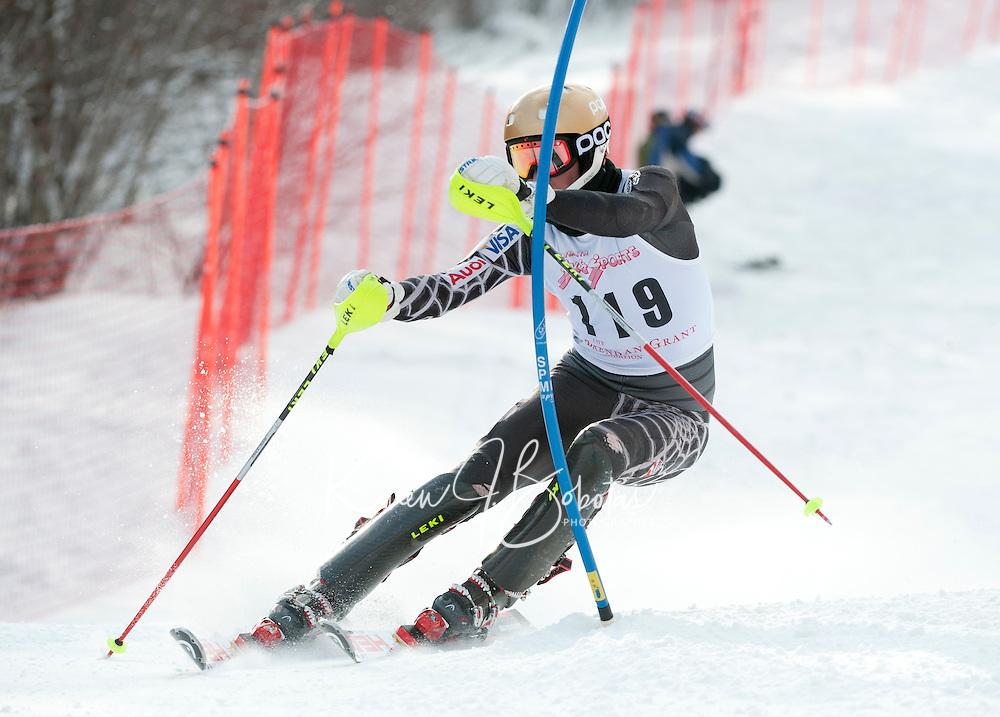 Tecnica Cup mens slalom at Ragged 16Jan11.