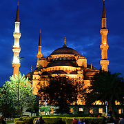 Sultan Ahmed Mosque (Turkish: Sultanahmet Camii) known popularly as the Blue Mosque is a Muslim (Sunni) Mosque in the center of Istanbul's old town district of Sultanahmet. It was commissioned by Sultan Ahmed I and completed in 1616,