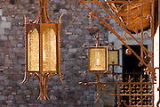 Daryl Sattui's Castello di Amorosa, a  version of a Tuscan hilltop castle in Calistoga, California. Napa Valley, California. Hand crafted iron work. Under construction January 2007.