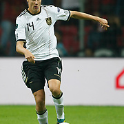 Germany's Holger BADSTUBER during their UEFA EURO 2012 Qualifying round Group A matchday 19 soccer match Turkey betwen Germany at TT Arena in Istanbul October 7, 2011. Photo by TURKPIX