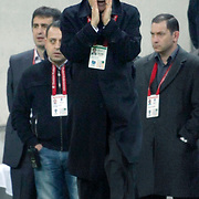 Trabzonspor's coach Senol GUNES during their Turkish superleague soccer derby match Galatasaray between Trabzonspor at the TT Arena in Istanbul Turkey on Sunday, 10 April 2011. Photo by TURKPIX