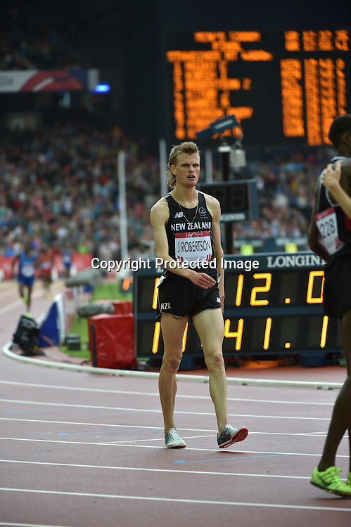 Nick Willis, Kyle and Zane Robertson of New Zealand compete in the Commonwealth Games  men's 5000m on Sunday July 28th 2014