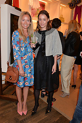 Left to right, MARTHA WARD and GEORGIE RYLANCE at a party to celebrate the publication of India Hicks: Island Style hosted by Princess Marie-Chantal of Greece, Saffron Aldridge and Amanda Brooks has held at Ralph Lauren, 105-109 Fulham Road, London on 28th April 2015,