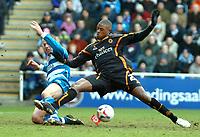 Photo: Ed Godden.<br />Reading v Wolverhampton Wanderers. Coca Cola Championship. 18/03/2006. <br />Ivar Ingimarsson (L) tackles Wolves' Carl Cort.