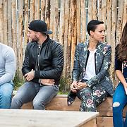 NLD/Amsterdam/20171026 - Perspresentatie Into the Waves 2017, Maurits Delchot, rapper Negativ, Kay Nambiar,  Sonja Silva en Nochtli Peralta Alvarez