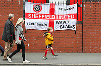 Sheffield United fans arrive at the ground<br /> <br /> Photographer Alex Dodd/CameraSport<br /> <br /> The Premier League - Sheffield United v Burnley - Sunday 23rd May 2021 - Bramall Lane - Sheffield<br /> <br /> World Copyright © 2021 CameraSport. All rights reserved. 43 Linden Ave. Countesthorpe. Leicester. England. LE8 5PG - Tel: +44 (0) 116 277 4147 - admin@camerasport.com - www.camerasport.com