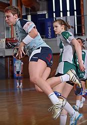Nastja Praprotnik of Ptuj at handball game ZRK Mercator Tenzor Ptuj vs RK Olimpija PLK in match for the third place of Slovenian Handball Cup,  on April 6, 2008 in Arena Golovec, Celje, Slovenia. Ptuj won the game 32:22 and placed third.  (Photo by Vid Ponikvar / Sportal Images)
