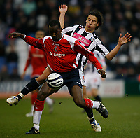 Photo: Steve Bond/Sportsbeat Images.<br />West Bromwich Albion v Charlton Athletic. Coca Cola Championship. 15/12/2007. Chris Powell (front) shields the ball from Robert Koren