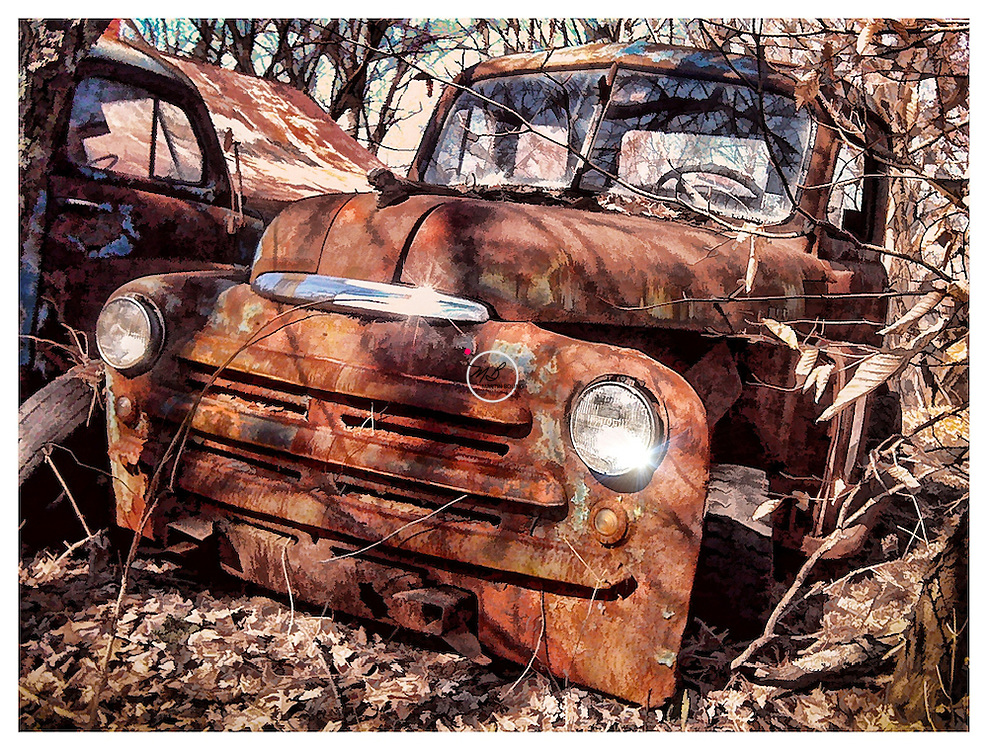 Old Rusty Truck is a Tow Mater Impersonator. It sits on a old homestead.