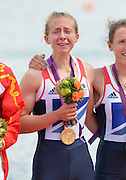 Eton Dorney, Windsor, Great Britain,..2012 London Olympic Regatta, Dorney Lake. Eton Rowing Centre, Berkshire.  Dorney Lake.  .GBR LW 2X Gold Medalist, Bow. Kat COPELAND and Sophie HOSKING..12:35:53  Saturday  04/08/2012 [Mandatory Credit: Peter Spurrier/Intersport Images]