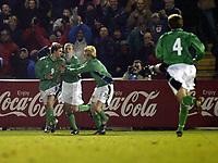 Fotball, 18. februar 2004, treningskamp Nord Irland-Norge 1-4,  David Healy, scoret Nord Irlands første mål på over to år